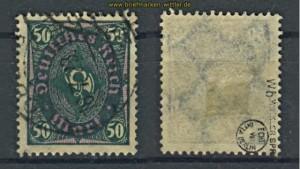 dt. Reich Mi # 209 W b gestempelt geprüft Infla (22124)