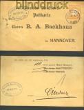 dt. Reich Mi #  18 Vordruckkarte Weissenfels 1874(21783)