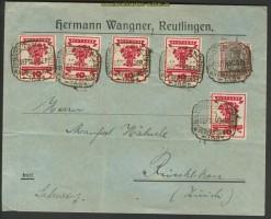 Dt. Reich Mi # 107 Auslandsbrief SSt. Reutlingen(21786)