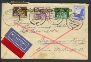 Dt. Reich LuPo-Eil-Brief Bad Nauheim 21.6.1936 (22213)