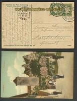 Bayern farb-AK Cadolsburg Bahnpost 1909 n Fürth (22230)