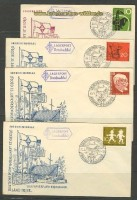 4 Pfadfinder Belege Lagerpost Brexbachtal 1958 (18207)