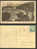 Baden-Baden sw-AK Blick v d Oberrealschule 1925 (d3078)
