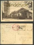 Baden-Baden sw-AK Blick Merkurberghotel 1928 (d3101)