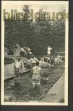 Bad Wörishofen sw-Foto-AK Wassertreten 1953 (d3121)