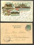 Bremen farb-Litho Bürgerpark 3 Ansichten 1898 (d2726)