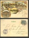 Bremen farb-Litho 4 Ansichten 1902  (d2728)