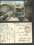 Königsberg farb-AK gr. Brücke Aufgang Börse 1918(d3438)