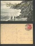 Gruss aus Warnicken sw-AK Strandansicht 1919 (d3443)