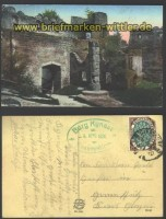 Burg Kynast farb-AK Inneres Giersdorf 1920  (d1277)