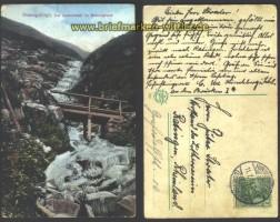 Lomnitzfall im Melzergrund farb-AK Riesengebirg (d2198)