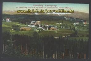 Brückenberg farb-AK Kirche Wang Prinz-Heinrichb (d2381)
