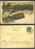 Colditz farb-Litho-AK Gruss aus 4 Ansichten 1899(d1280)