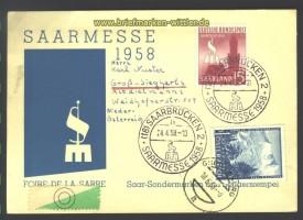 Saarmesse 1958 Ballonfahrt??? mit österreichisch(17259)