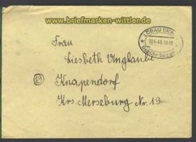 Löbau (Sachsen) Gebühr bezahl 20.4.1946  (15707)