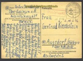 Esslingen-Oberesslingen Gebühr bezahlt 8.1.1946 (17250)