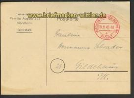 all. Besetzung Nordhorn Gebühr bezahlt 1945 (21458)
