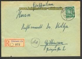 all. Bes. R-Brief Not-R-Zettel Eisenach 1 b 1947(17542)