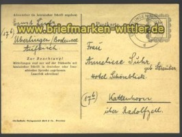 P 836 Behelfsausgabe Südbaden Überlingen 1946  (15121)