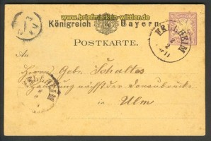 Bayern alte GSK mit altem Fellheim-Stempel 1879 (17529)