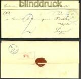 Badbergen Paketbegleitbrief blauer HV-Stempel (17492)