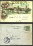 Berlin farb-Litho Gewerbeausstellung 1896 + SSt (14418)