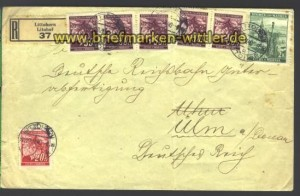B & M  R-Brief Littohorn (Litohor) 19.7.1940 (15799)
