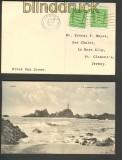 Jersey 2 x Mi # 1 Ansichtskarte als FDC !!!!!! (20874)