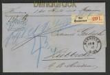 dt. Reich markenloser Paketbegleitbrief Hannover(20678)