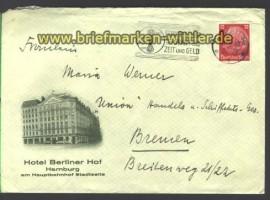 dt. Reich illustrierte Umschlag Hotel Berliner H(15136)