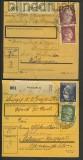 dt. Reich kl. Lot von 10 Paketkarten 1943/44  (21038)