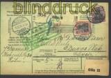 dt Reich Auslands-Paketkarte Mi # 89 I und 91 I (11253)