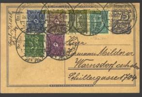 dt. Reich Auslands-Postkarte Sonderporto CZ 1922(13108)