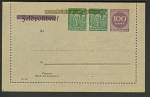 dt. Reich Kartenbrief Privatbestellung # 40 E 2 (21507)
