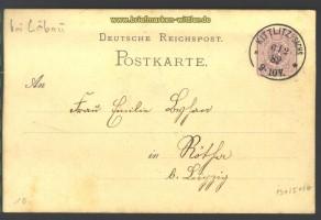 dt. Reich GSK Kittlitz 6.2.1882 bei Löbau !!!! (16016)