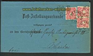 dt. Reich MeF Mi # 41 (3) Post-Zustellungsurkund(20478)