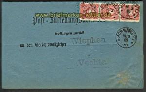 dt. Reich Mi # 41 b D MeF senkr. 3er-Streifen ge(20625)