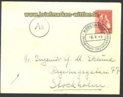 Zensur Brief Dänemark Durchlaufstempel A k 1943 (13187)