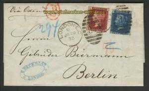 England Mi # 16 + 17 Auslandbrief London 29.1.73(21592)