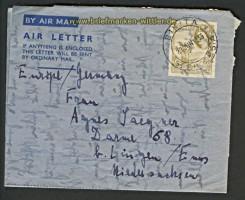 Rhodesien Luftpostleichtbrief Bikita 1955 (20292)