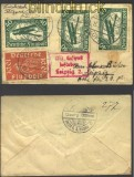 Flugpost Berlin-Leipzig 13.3.1922  Mi # 111/12 (13016)