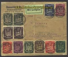 dt. Reich Flugpostmarken Brief-Vorderseite gepr.(13146)