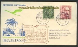Lufthansa Erstflug Aufnahme Naher Osten 12.9.56 (20382)