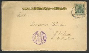 dt. Reich Brief Bentheim gepr�ft zu bef�rdern (21501)
