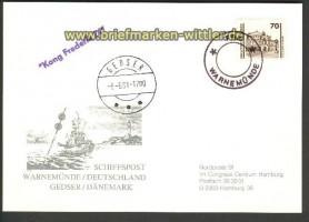 Schiffspost Ostsee Kong Frederik IX Gedser-Warne(17770)