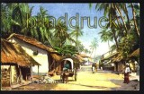 Ceylon farb-AK Street Scene Fort Colombo (a0363)