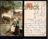 Niederlande farb-AK Volendam 1928 in die USA (a0081)