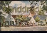 Niederlande farb-AK Laren cafe ´T Bonte Paard (a0086)