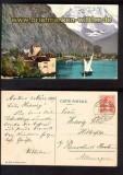 Chillon et Dent du Midi farb-AK 1904 (ch0058)