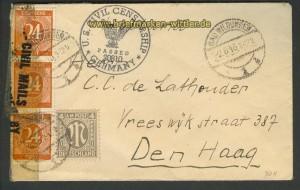 all. Besetzung Auslands-Zensur-Brief 1946 (21455)